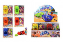 Panenka bruslařka 9cm + auto 13cm plast - mix variant či barev