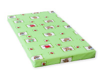 Detský matrac 140x70x8 cm, molitan, zelená, Cuculi