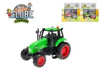 Traktor kov 11 cm na zotrvačník na batérie so svetlom a zvukom - mix farieb
