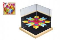 Magnetická tabulka se zrcadly dřevo 44ks