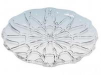 tácku kryštál guľatý 28cm imitácia skla plastový