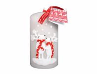 Sviečka SOB so šálom VALEC vianočné d7x14cm