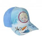 Šiltovka Ľadové kráľovstvo Premium modrá s flitrami