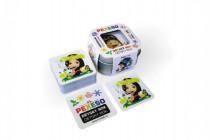 Pexeso dětský rok voděodolné 64 karet v plechové krabičce Hmaťák