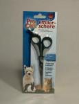 Nožnice efilačné jednostranné pre psov / mačky 18cm TR