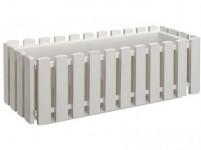 Truhlík Fence plastový biely 50cm