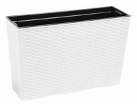 Truhlík Werben RATTAN plastový biely 56x19x37cm