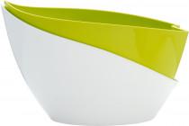 Plastia kvetináč samozavlažovací Doppio - 14x20 cm svetlo zelená + biela