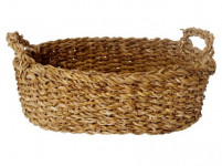 košík oválny s úchytmi veľký 36x26x11cm morská tráva