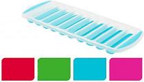forma na ľad tyčky (10x) 29,5x11,5x2cm plastová / silikón - mix farieb
