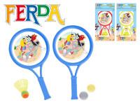 Tenisová sada Ferda Mravenec 2ks pálky 32cm s košíčkem a míčky