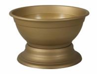Váza hřbitovní KRAKOW plastová zlatá d26x16cm