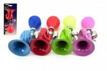 Klakson trumpeta na kolo kov 18cm - mix barev