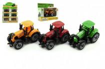 Traktor kov / plast 10cm v krabičke voľný chod - mix farieb