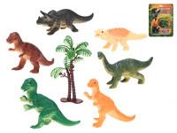 Dinosaury 8-9 cm 6 ks so stromom