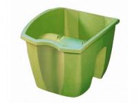 Truhlík CROWN na zábradlie plastový svetlo zelený 24x28cm