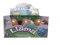 Alpaka liahnuce a rastúce vo vajíčku JUMBO 11 cm - mix variantov či farieb