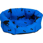 Pelech 8 hran bavl.Bafani modrý 60 cm
