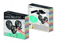 Balóniky čierne pokreslovací s kriedami