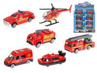 Vozidlo hasičské 7-8 cm kov 1:64 voľný chod - mix variantov či farieb