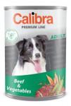 Calibra Dog konz.Premium Adult hovädzie + zelenina 800g