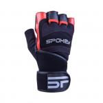 Spokey Miton fitness rukavice černo-červená vel. L
