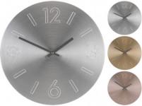 hodiny nástenné pr.35cm Al - mix farieb