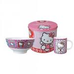 Snídaňový set Hello Kitty v plechové krabičce