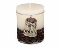 Sviečka COFFEE BAG VALEC rustikálny d7x10cm