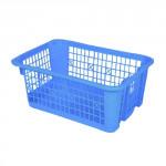 košík stohovatelný 30x21x12cm plastový (velký) - mix barev