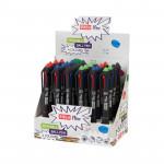 Easy Flow 4colours 24 ks Prepisovateľné pero Gumovacie, 4 farby - VÝPREDAJ