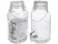 fľaša 4000ml sklenená s kohútikom