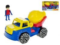 Auto stavebné miešačka s panáčikom