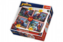 Puzzle 4v1 Spiderman / Disney Marvel Spiderman