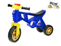 Motorka odrážedlo 60x43x19 cm modrá s klaksonem max. 20 kg
