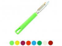 škrabka L nerez 17cm, plastová rukoväť - mix farieb