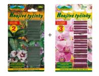 Hnojivo tyčinkové: univerzálny 50ks + na orchidey 20ks