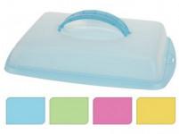 podnos s krytom 43x31x9cm plastový - mix farieb