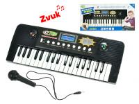 Pianko 37 kláves 43x16 cm s mikrofónom na batérie s funkciou nahrávania