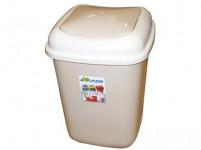 kôš odpadkový výklopný QUATRO 12l štvorcový plastový - mix farieb