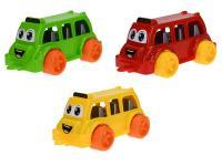 Autobus veselý 26 cm - mix farieb