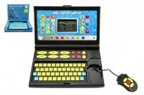 Môj prvý laptop / notebook čiernomodrý 50 programov na batérie so zvukom