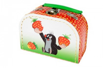 Sewn Suitcase / Suitcase Mole and strawberries - VÝPREDAJ