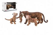 Zvieratká safari ZOO 13cm sada plast 3ks tiger 2 druhy