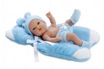 Panenka/miminko Arias vonící 33cm modré pevné tělo