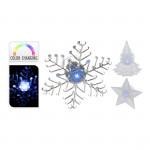 dekorácie LED vianočné 9x9x3cm s prísavkou - mix variantov či farieb