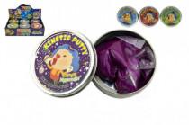 Hmota / plastelína 50g inteligentný trblietavá glitter 8cm mix farieb v plechovej krabičke - mix variantov či farieb