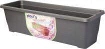 Plastia truhlík samozavlažovací Bergamot - antracit 80 cm