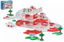 Garáž + dráha Kid Cars 3D Nemocnica plast 4,8m 12m + Wader