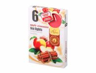 Čajová sviečka - aróma Jablko-Škorica - 6 ks